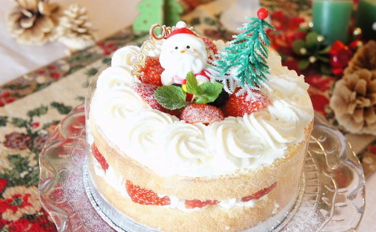 簡単づくしが嬉しいXmas*お持ち帰りの苺ケーキで即Party*