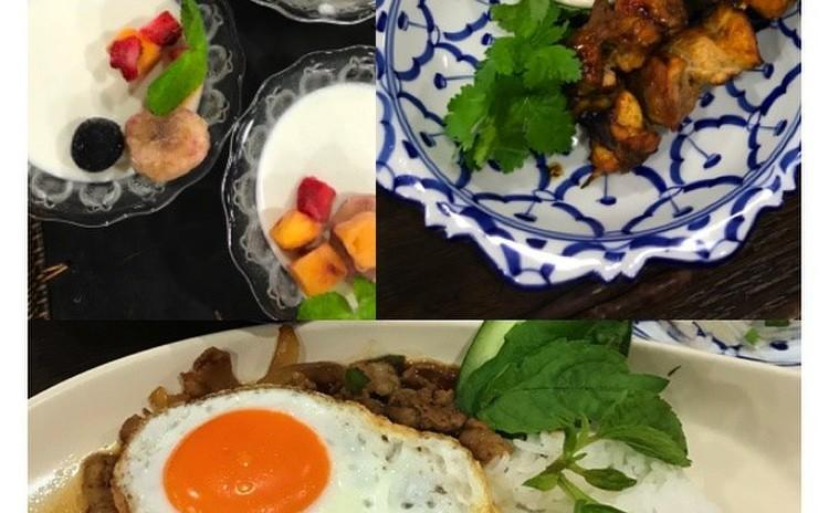 大人気のタイ料理を作りましょう♫ ガバオライスとチキンサテ