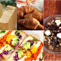 自家製パンでボリュームサンド作り!さらに塩パン、サラダ、デザートも♪