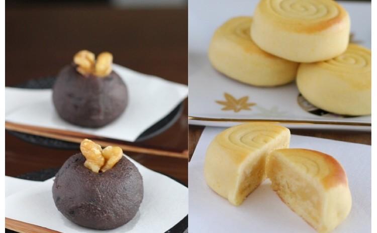 11月/しっと~りバニラミルク餡「桃山」とまんまる「黒ごま餡のおはぎ」