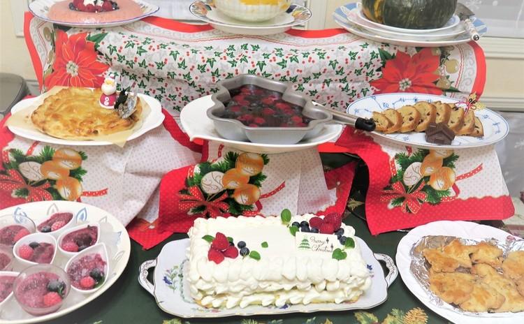 クリスマスパーティーの締めくくりはデザートブッフェで♡