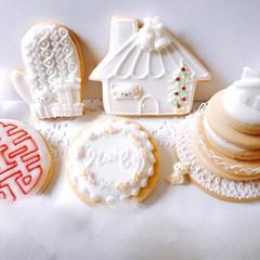 アイシングクッキー、クリスマス&ハッピーニューイヤー♪お土産付き!