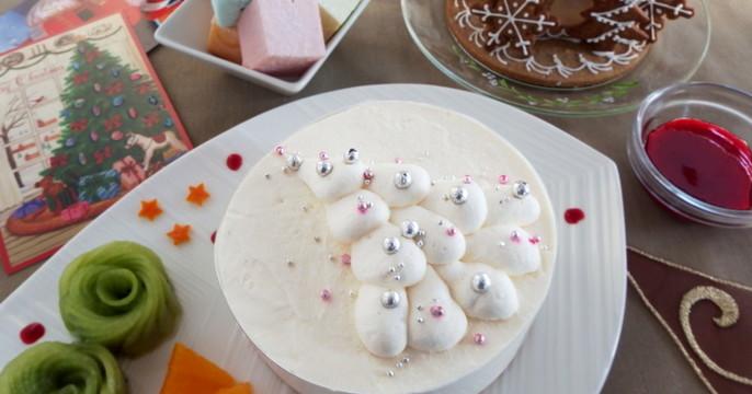 親子レッスン ホワイトクリスマスツリー・ケーキ