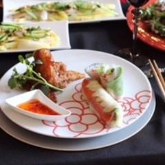食欲の秋エスニック風イカとジャガイモの山椒風味&手羽先揚げ煮&生春巻き