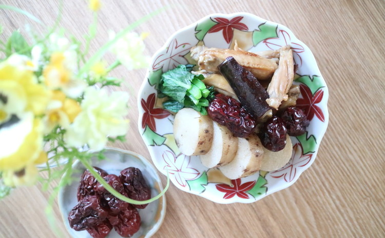 鶏肉と山芋、肉桂煮物【散寒】