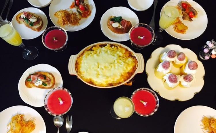 クリスマスはシェパードパイと蟹のトマトパスタ+3品シュトーレン付き