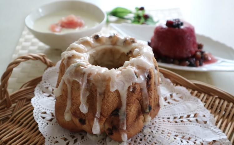 クリスマスにも♪カリッと美味しいクグロフ型のカレンズレーズンパン