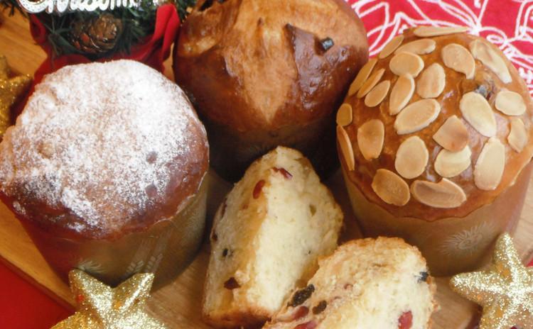 【2種のパン作り】パネトーネ&ベーコンと黒胡椒のフーガス♡
