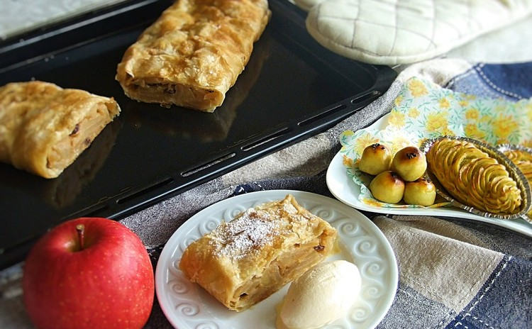 ウィーン風アップルパイ☆アプフェルシュトゥルーデル&スイートポテト