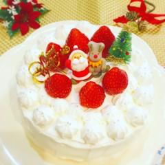 基本のクリスマスデコレーションケーキ
