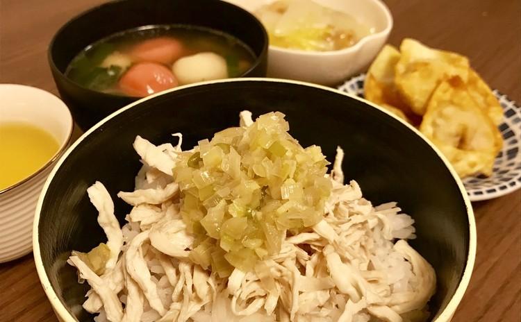 実習形式♪台湾の定番朝ごはん「雞肉飯」と、台湾のお正月料理「鹹湯圓」