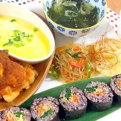 話題のチーズとろとろタッカルビと野菜たっぷりヘルシー韓国プレート全6品