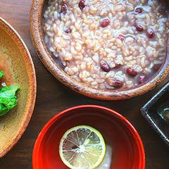 優しい家庭料理☆玄米♪ひろうず☆車麩とそばがき♪ノンシュガーで美味しく