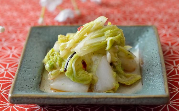 白菜と塩昆布のピリ辛お漬物