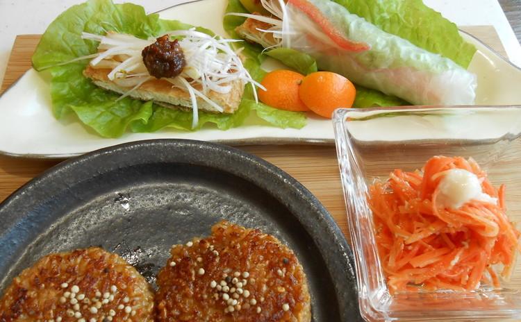 オーガニックで手作りの香り高きお味噌作ってお持ち帰り。塩麹作りと料理。