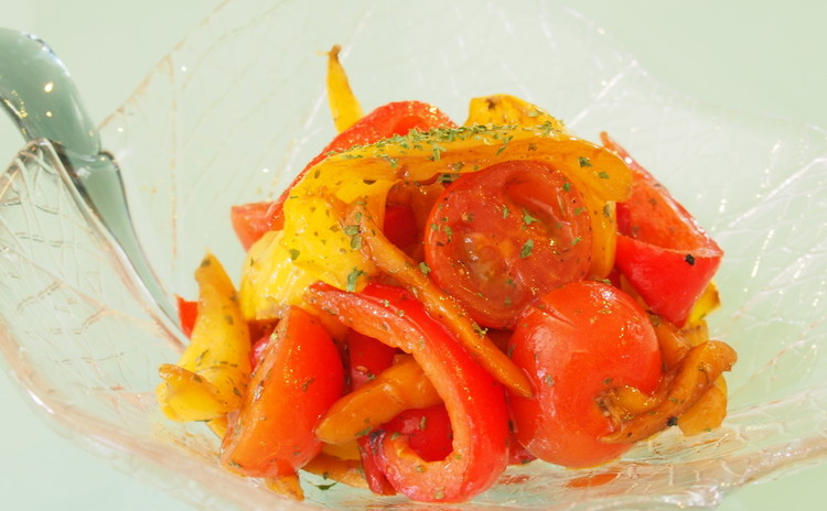 焼きパプリカとミニトマトのバルサミコマリネ