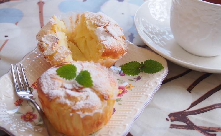 りんごとクリームチーズのガトーインビジブル風マフィン