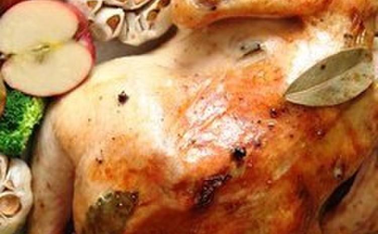 丸鶏のローストチキン&特製グレービーソース