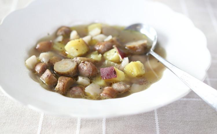根菜たっぷりのスープ ニンニク風味