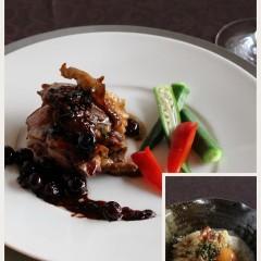 秋田協賛、数量限定高級比内地鶏勉強と美味料理&オニオングラタンスープ