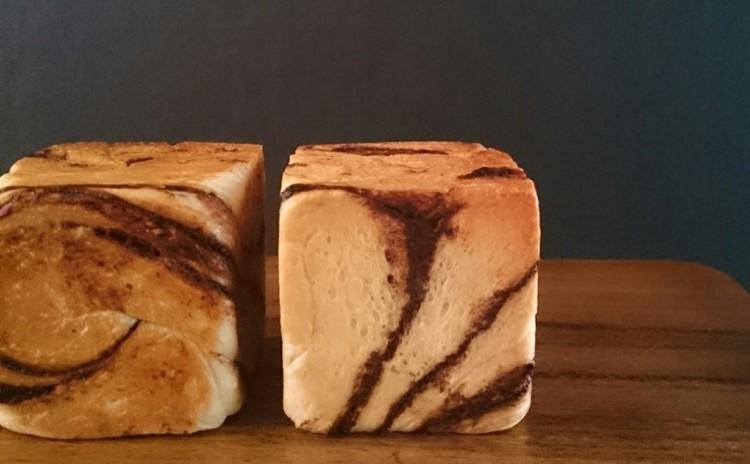 ミニキューブ型のマーブルビターチョコパン&手作りナッツチョコ♪