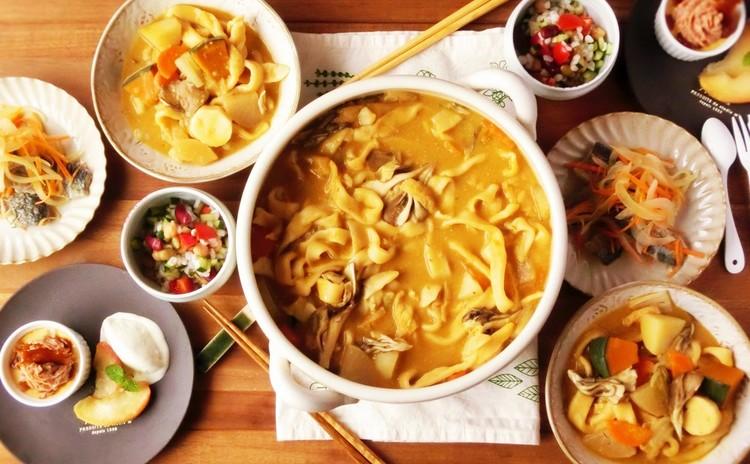 麺から作る山梨名物ほうとう&一人1尾サンマの三枚下ろし 全5品