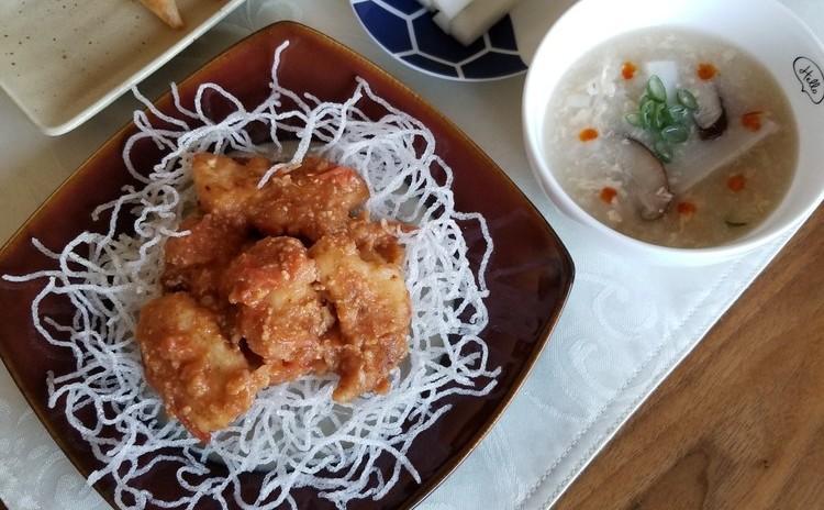 【身体に優しいおうち中華】チリソース、三角揚げ、酸辣湯など