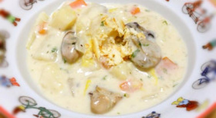 牡蠣と白菜のクラムチャウダー