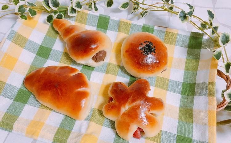 あんぱん&チョココロネ&クリームパン&ウインナーパン!!