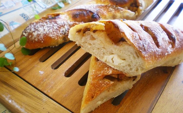 酒粕酵母『濁酒』*林檎のステックパン