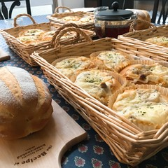 キノコグラタンパンと濃厚ミルクハース