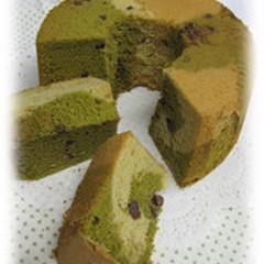 【お一人1台】米粉シフォンケーキ 抹茶マーブル