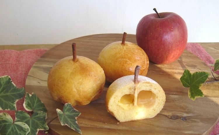 ふんわりブリオッシュ2種「アップル」と「アテット」 ホシノ天然酵母で