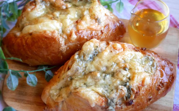 【2種のパン作り】アップルアーモンドケーキ&はちみつチーズパン♡