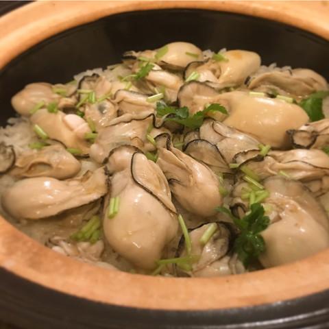 牡蠣の土鍋ごはん