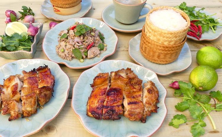 香草たっぷり!タイのイサーン料理☆ガイヤーンとラープ☆