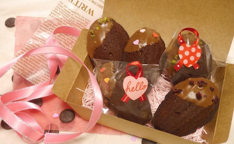 ハッピーバレンタイン♡いちごムース&チョコマドレーヌ
