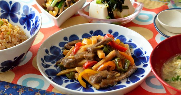 お肉柔らか~青椒肉絲をメインに炒飯も♡おうち中華の献立です♪