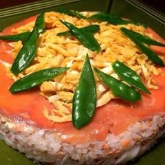リクエスト☆ひな祭りに向けてケーキ型のお寿司と焼きいちごのタルト
