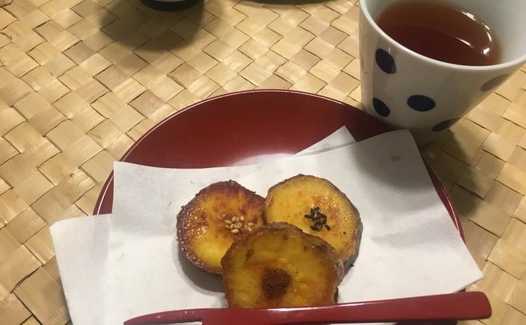 安納芋のほっこりおやつと自家製ほうじ茶