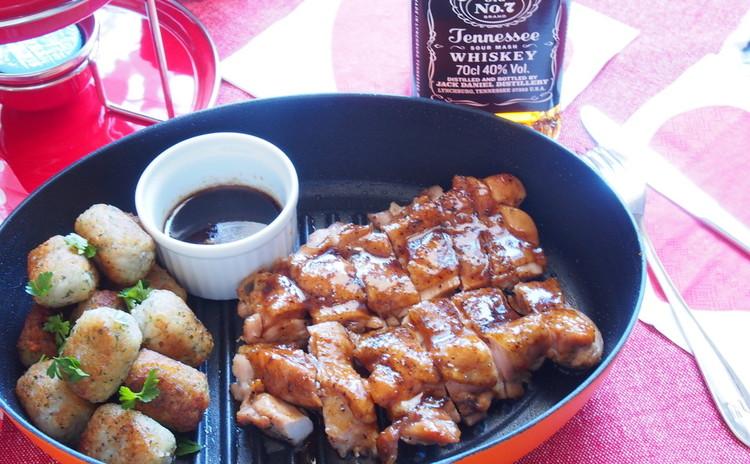濃厚ウイスキーソースのジャックダニエルズチキン、Tofuフォンデュ等