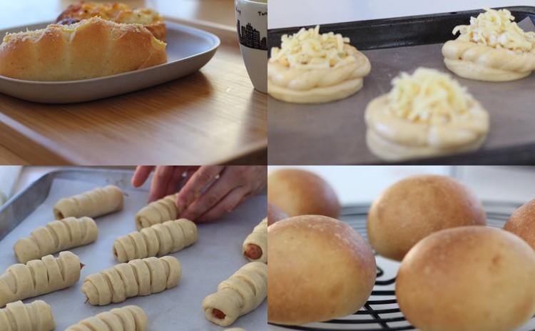 1つの生地から3種類のふわもちパンを作ろう