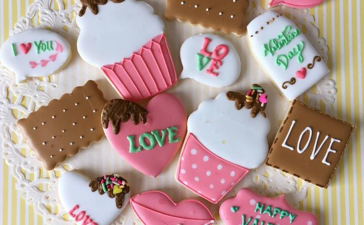 初心者歓迎♡バレンタインアイシングクッキーレッスン