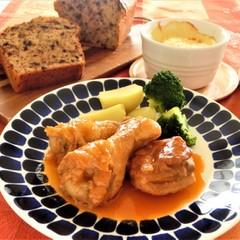 鶏肉のビネガー煮、ホタテとカリフラワーのグラタン◆クリナップ新宿