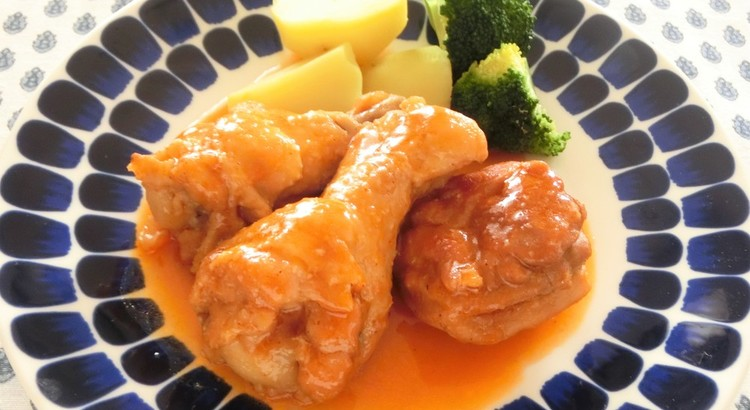 鶏肉のビネガー風味の煮込み