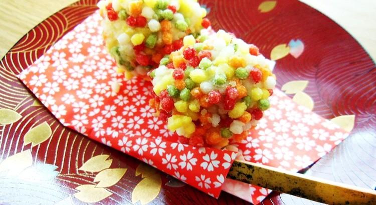 冬の野菜と果物の和菓子2種