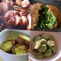 真冬に美味しくなる野菜、白菜、菜の花、フキノトウ、芽キャベツ