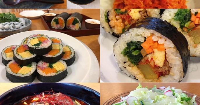 人気のキンパッと旬の食材を使った韓国料理をお届け致します。