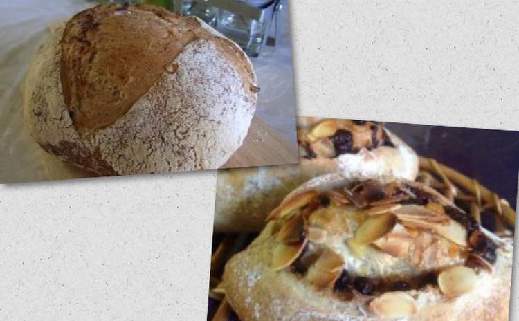 自家製酵母パン:雑穀カンパーニュとオランジュ ショコラ