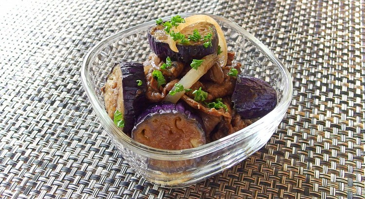 牛肉とナスのバルサミコソテー